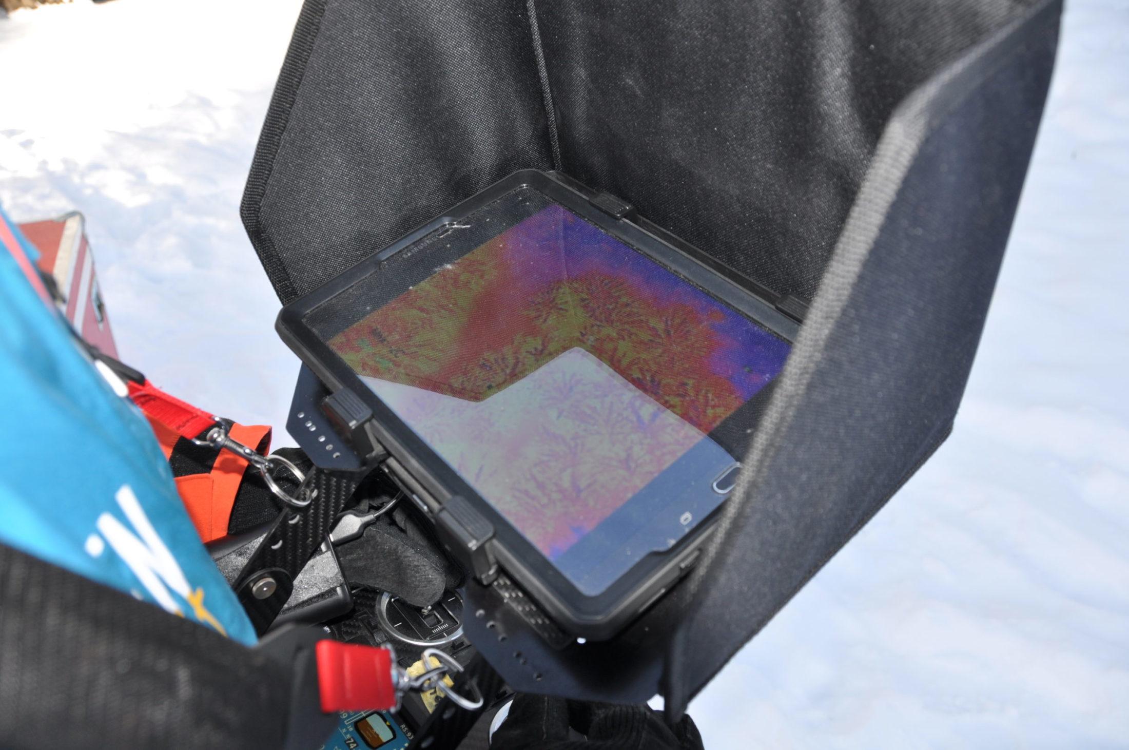 Drohnen Kamerafeed auf der Fernsteuerung