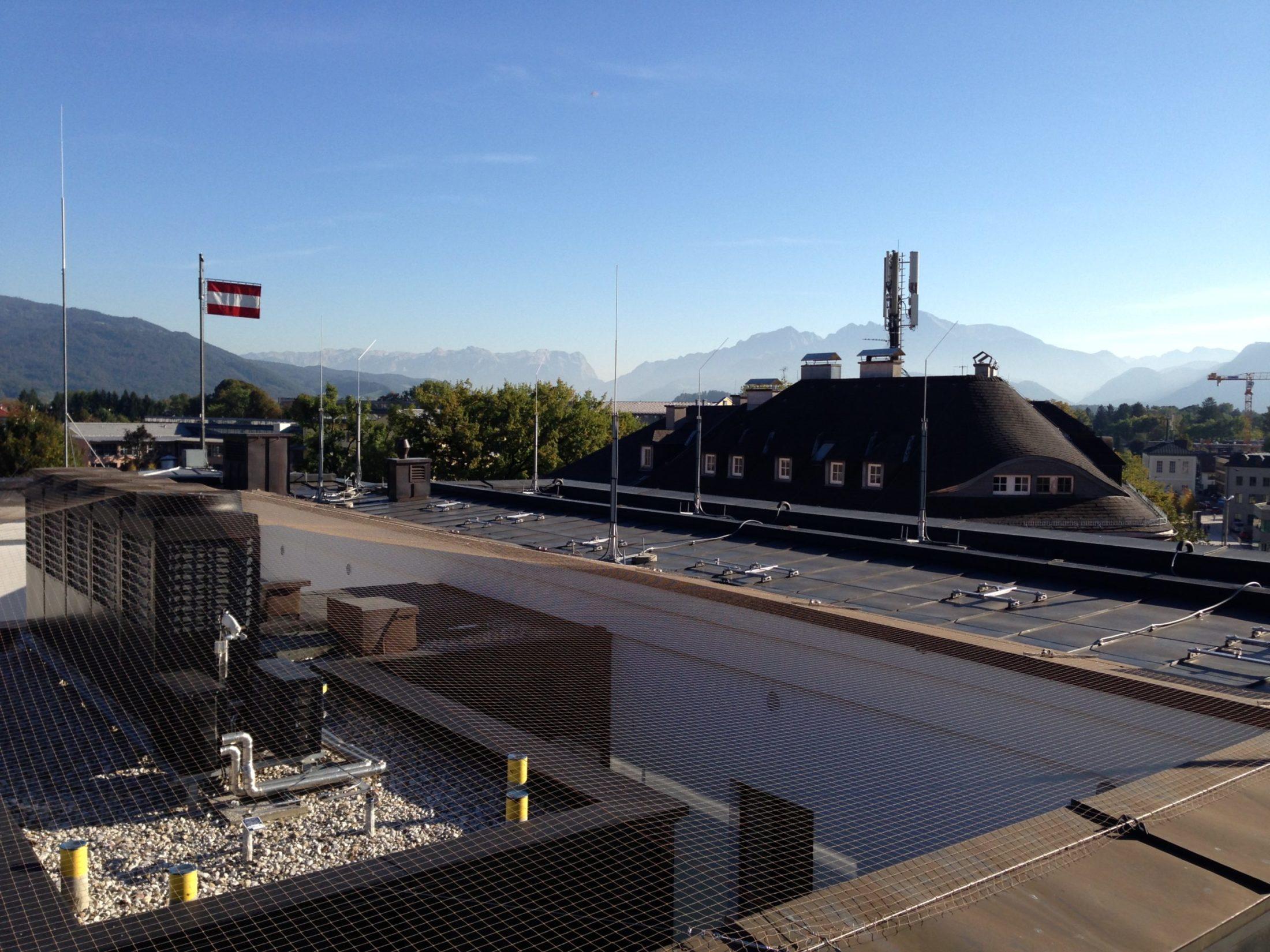 Arbeit auf einem Dach